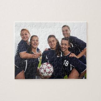 groeps portret van de voetballers van het puzzel