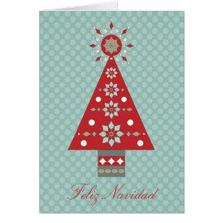 Groet van de Kerstboom van Navidad van Feliz de Kaart