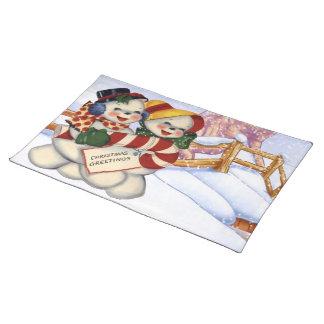 Groeten 3 van Kerstmis Placemat