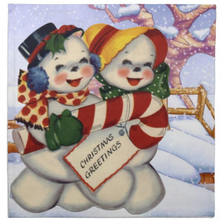 Groeten 3 van Kerstmis Servet
