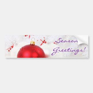 Groeten III van Rode en Witte Seaon van Kerstmis Bumpersticker