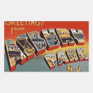Groeten van Asbury Park NJ Rechthoekige Sticker