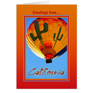 Groeten van Californië Wenskaart