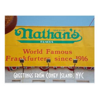 Groeten van Coney Island, NYC 1 Briefkaart