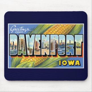 Groeten van Davenport, Iowa! Muismatten