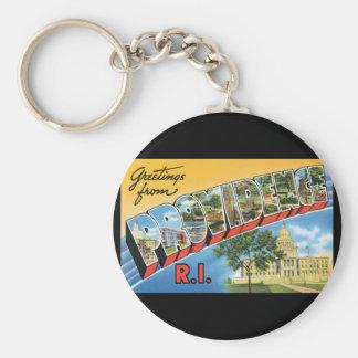 Groeten van de Reis van RI_Vintage van de Basic Ronde Button Sleutelhanger