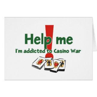 Groeten van een casino-Oorlog verslaafde Wenskaart