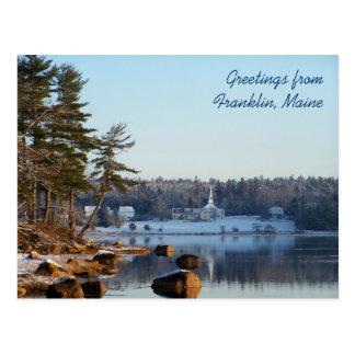 Groeten van Franklin, Maine Briefkaart
