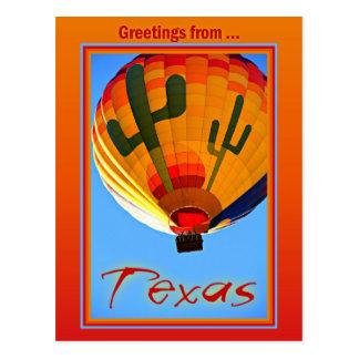 Groeten van het Briefkaart van Texas