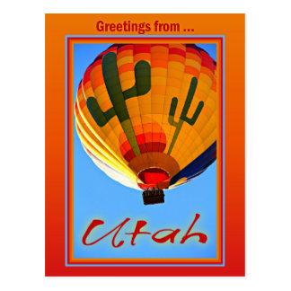 Groeten van het Briefkaart van Utah