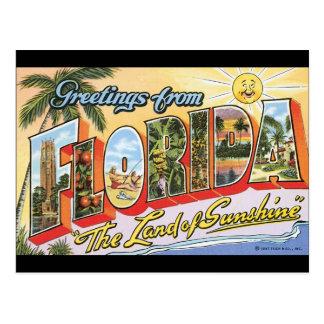 Groeten van het Poster van de Reis Florida_Vintage Briefkaart