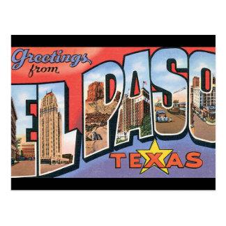Groeten van het Poster van de Reis van El Paso Briefkaart
