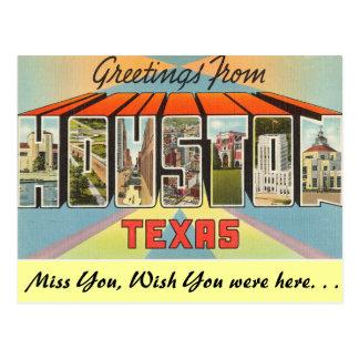 Groeten van Houston Briefkaart