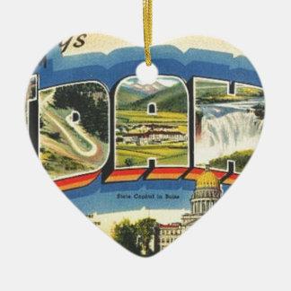 Groeten van Idaho Keramisch Hart Ornament