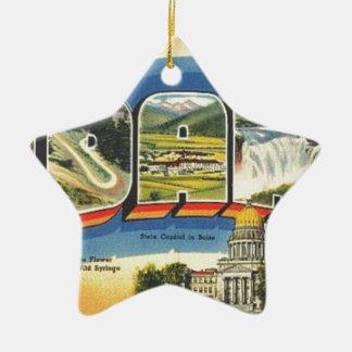 Groeten van Idaho Keramisch Ster Ornament
