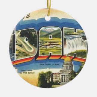Groeten van Idaho Rond Keramisch Ornament