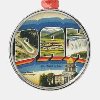 Groeten van Idaho Zilverkleurig Rond Ornament