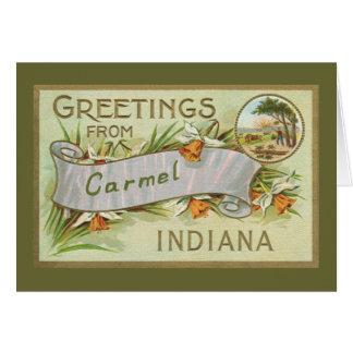 Groeten van Indiana-Green Carmel Grens Kaart