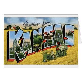 Groeten van Kansas Kaart