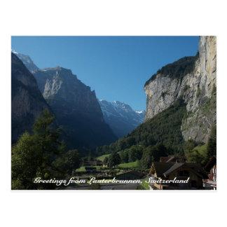 Groeten van Lauterbrunnen, Zwitserland 1 Briefkaart