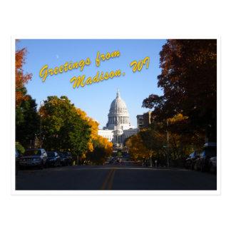Groeten van Madison, WI Briefkaart