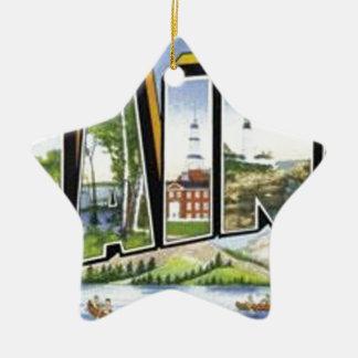 Groeten van Maine Keramisch Ster Ornament