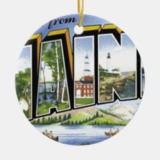 Groeten van Maine Rond Keramisch Ornament