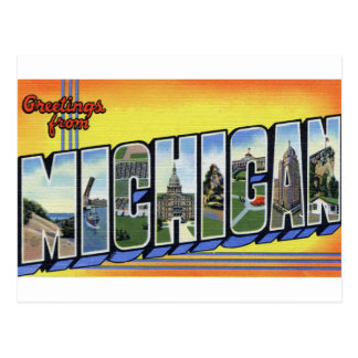 Groeten van Michigan Briefkaart