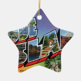 Groeten van Rhode Island Keramisch Ster Ornament