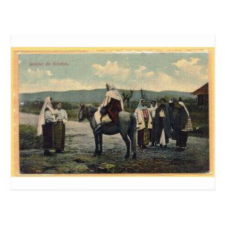 Groeten van Roemenië, briefkaart in 1910 wordt