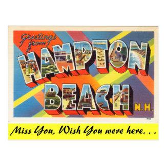 Groeten van Strand Hampton Briefkaart
