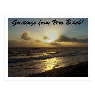 Groeten van Strand Vero! Briefkaart