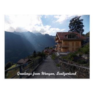 Groeten van Wengen Zwitserland 1 Briefkaart
