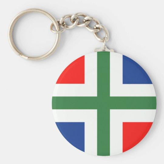 Groningse vlag sleutelhanger