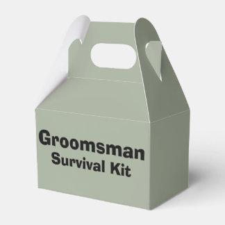 """""""Groomsman"""" de Doos van de Overlevingsuitrusting Bedankdoosjes"""