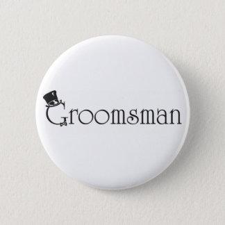 Groomsman Knoop Ronde Button 5,7 Cm