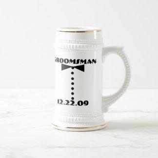Groomsman Stenen bierkroes - Bierpul