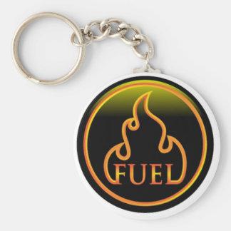 groot brandstoflogo basic ronde button sleutelhanger