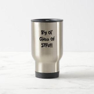 Groot Glas Ol van STFU!! Reisbeker