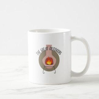 Groot in openlucht koffiemok