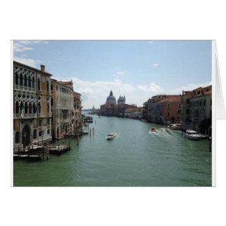 Groot Kanaal, het Wenskaart van Venetië