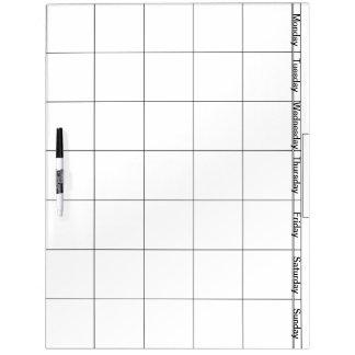 Groot met Droge Pen wis Raad met Dagen van Week Whiteboard