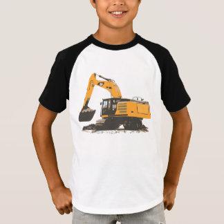 Groot Oranje Retro Graafwerktuig #3 T Shirt