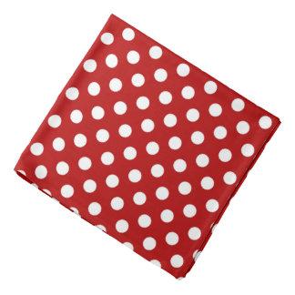 Groot retro stip - rood en wit bandana