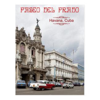 Groot Theater van Havana, Paseo del Prado, Cuba Briefkaart