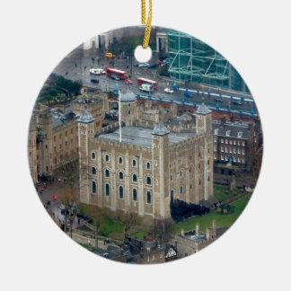 Groot! Toren van Londen Engeland Rond Keramisch Ornament