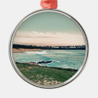 Groot Western Strand Newquay Zilverkleurig Rond Ornament