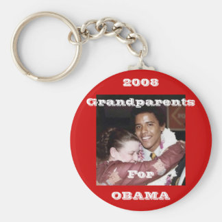 Grootouders voor Obama Basic Ronde Button Sleutelhanger