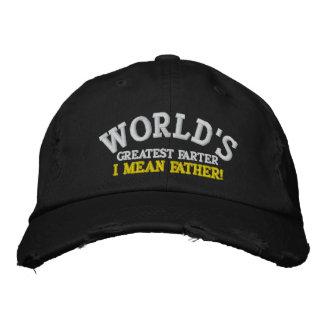 Grootste Farter van de wereld… Ik bedoel Vader! Geborduurde Pet