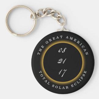 Grote Amerikaanse Totale ZonneVerduistering 2017 Sleutelhanger